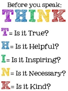 Engage brain before you speak ...